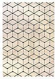 Carpetforyou Teppich Magic Cube Designer Moderner Vintage für Wohnzimmer oder Schlafzimmer (140 x 200 cm)