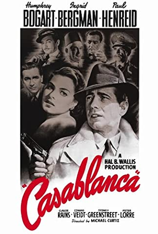 Casablanca Affiche du film Poster Movie Casablanca (27 x 40 In - 69cm x 102cm) Style B