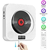 CD Player Bluetooth, Degbit Portable Wall Mountable CD/DVD Player for Children Students Hi-Fi Speakers FM Radio Built-in with LED Display Supports USB/MP3/3.5 mm Headphone Jack