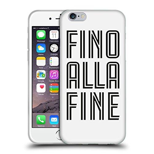Ufficiale Juventus Football Club Fino Alla Fine Nero Tipo Cover Morbida In Gel Per Apple iPhone 6 / 6s Fino Alla Fine Bianco