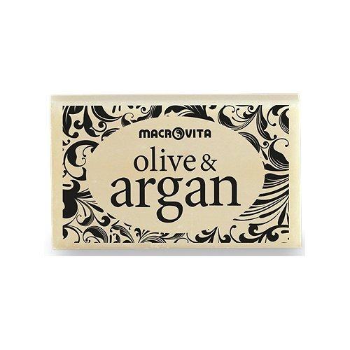 macrovita oliva y jabón de Argán puro aceite de oliva y aceite de argán 50gr.