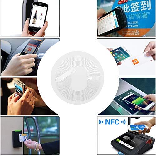 WE-WHLL 10 Stück NTAG213 NFC Tag Aufkleber Key Patrol Label RFID-Tag für Access Control Card Access Control Device