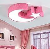 Lámparas de techo, luces de la habitación de los niños luces del dormitorio llevó la luz de techo simple chica moderna sala Creative lámparas de control remoto 55 * 35 * 8 cm ( Color : #7 )