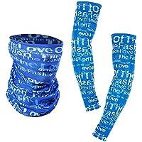 Everpert - Juego de mangas y bufanda unisex para ciclismo al aire libre, protección UV, refrigeración, color Light Blue,L, tamaño L