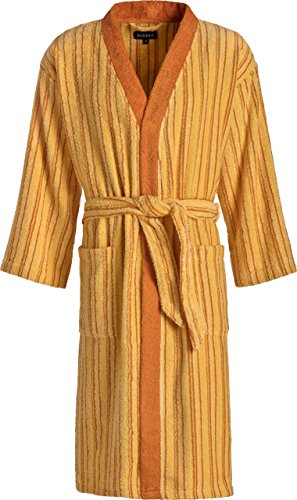 Michaelax-Fashion-Trade Egeria - Unisex Bademantel mit Schalkragen, gestreift, Art. Darwin (011011) - Limitierte Auflage -, Größe:XL, Dessin:Mango (148)