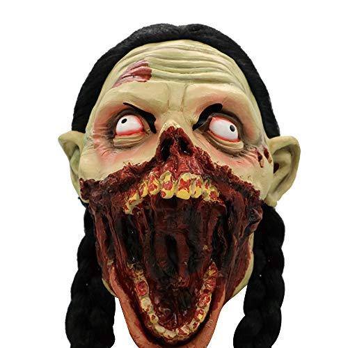 bescita 2018 Horror Maske Scary Zombie Halloween Karneval Kostüm Fasching Party Hot