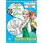 Disegno-e-coloro-le-mie-storie-da-film-Tutti-in-festa-Frozen-fever-Ediz-illustrata