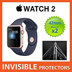 Apple Watch Series 2 42mm iWatch Screen Protector by SUPREME SHIELDS - Military Grade Protection PACK OF 2