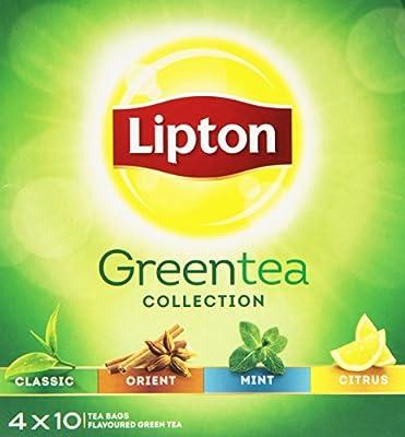 Lipton Pyramid Variety Pack Thé Vert 40 Sachets 120 g - Lot de 3