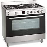 Montpellier MR90GOX 90cm Gas Single Oven Range Cooker Stainless Steel