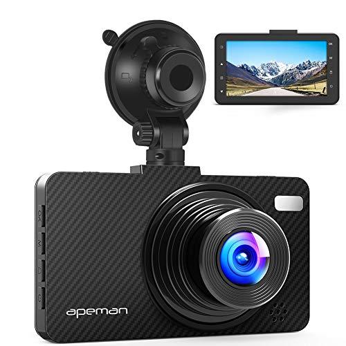 """APEMAN Dashcam Full HD 1080P Autokamera 3.0\"""" Bildschirm mit 150¡ã Weitwinkelobjektiv, WDR, Bewegungserkennung, Parkmonitor, Loop-Aufnahme, Nachtsicht und G-Sensor"""
