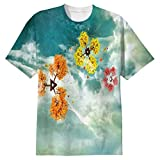 Snoogg Colorful Windsa Mens Casual All Over Printed T Shirts Tees