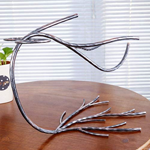 Große St. Iron Wine Rack Zweig Form Cup Holder Home Decoration 31 × 21 × 25 cm -2 Farben Optional (Farbe: Bronze) (Farbe : Bronze, Größe : -) -