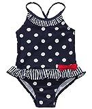 iEFiEL Mädchen Kinder Badeanzug Bademode Bikini Polka Dotssize_name: 92(Herstellergröße: 1) color_name: Marineblau