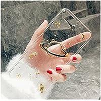 Preisvergleich für OVVO Einzigartiges Desigh Glitter Soft Slim Phone Shell Liebhaber Telefon Fall für iPhone 7P / 8P (Schwarz)