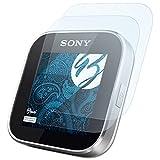 Bruni Schutzfolie kompatibel mit Sony SmartWatch Folie, glasklare Bildschirmschutzfolie (2X)