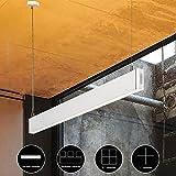 KJLARS Pendelleuchte LED Büroleuchte Deckenleuchte Pendellampe, Büro Hängelampe, höhenverstellbar, Pendellänge maximum 150 cm, 1200*30*80mm 36W 3000K, für hängeleuchte esstisch, Arbeitszimmer, Wohnzimmer Hängeleuchte