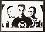 The Big Bang Theory Sheldon Penny Und Leonard Poster Plakat Handmade Graffiti Street Art - Artwork