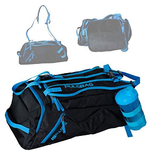Pulsbag 3in1 Sporttasche, Innovative Reise-Rucksack-Funktion, Fächer individuell einteilbar, Damen, Herren, Kompakt, 30 Liter