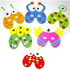 Idea Regalo - Playwrite - Confezione di 6 maschere di mostri/alieni, in gommapiuma EVA, design assortiti