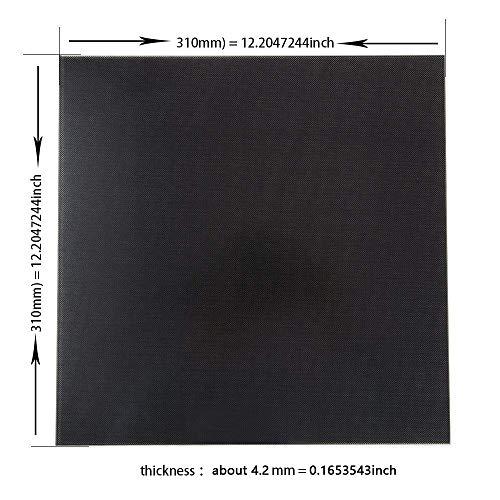 Placa de vidrio CR-10S Cama caliente de cama caliente CR-10 310X310 para la impresora 3D HICTOP de Creality
