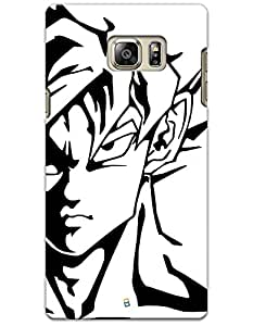Samsung Galaxy Note 5 Cases & Covers - Goku Face Case by myPhoneMate - Designer Printed Hard Matte Case - Protects from Scratch and Bumps & Drops.