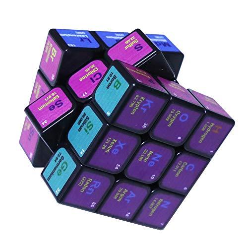 Saino Würfelwürfel Von Rubik Magic Cube Chemie 3X3x3 Amazing Halloween Monster Glattes Gehirn Smooth Speed Twisted 3D Puzzle Spiel,White