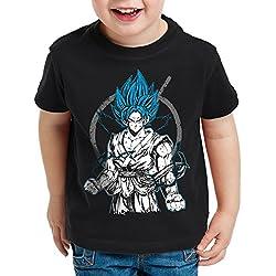 style3 Goku Contender Camiseta para Niños T-Shirt roshi ball z roshi songoku dragon, Talla:116