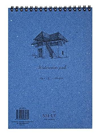 SM.LT AB-35TS Authentic line Bloc à aquarelles de 35 pages Format A4 Blanc 280g/m²