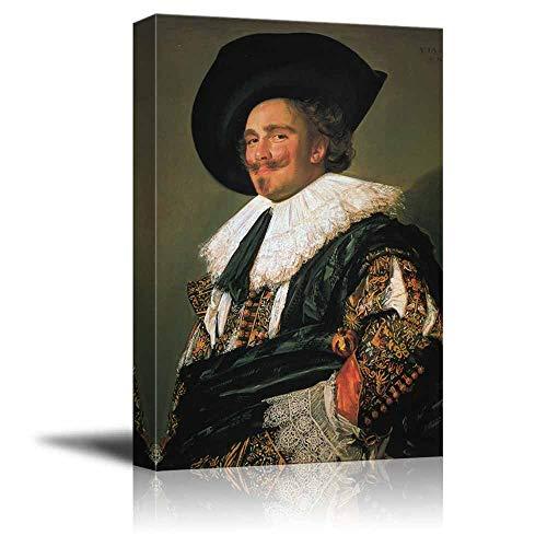 H&B Laughing Cavalier von Frans Hals - Kunstdruck auf Leinwand, 40 x 60 cm -