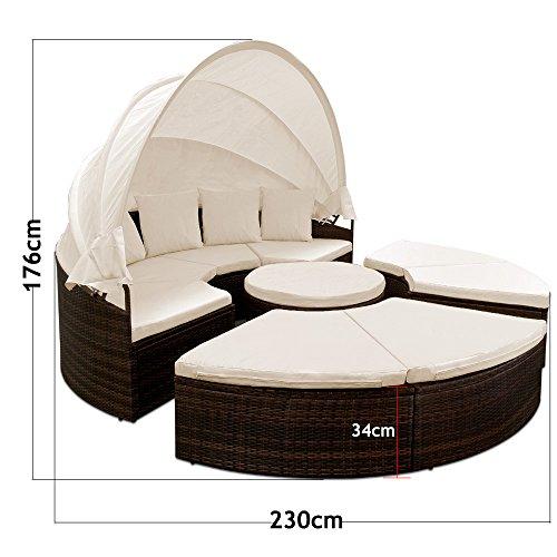 deuba-xxl-poly-rattan-sonneninsel-o-230cm-i-mit-dach-tisch-i-7cm-dicke-auflagen-4-kissen-i-braun-lounge-liege-sitzgarnitur-gartenmoebel-set-7
