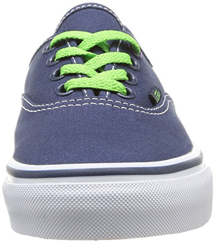 Vans K Authentic Pop, Baskets mode mixte enfant Bleu (Dress Blues/Green Flash)