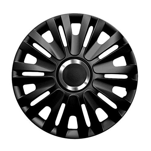 14 Zoll Radzierblenden ROYAL RC BLACK (Schwarz mit Chromring). Radkappen passend für fast alle VW Volkswagen wie z.B. Polo 9N!