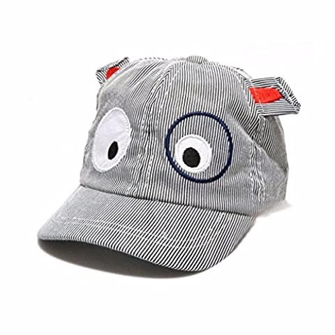 FALAIDUO Kids Boys Girls Cute Cartoon Dog Beret Hat Sun Hat Baseball Cap for 1-3 Years (Z_Black)