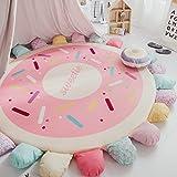 Brilliant firm Krabbeldecken Wattebausch Schlafzimmer Erker Kinder Klettern Pad Runde Wohnzimmer Teppich Zelt Bettmatratze (Color : Pink, Size : 160*6cm)