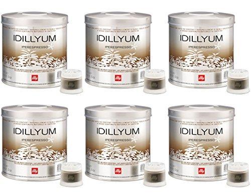 Illy Caffè Iperespresso.Idillyum - Set 6 barattoli da 21 capsule