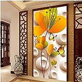 Moderne 3D HD Wandgemälde Schmetterling Blumen Tapete Für Eingang Korridor Wandbilder Tapete Papel De Parede 3D Sala XXL 400X748CM