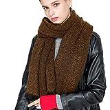 TianWlio Frauen Schals Frauen Neue Lässige Winter warme feste Woolen Whisker Quaste Schal weichen Halstuch