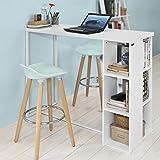 SoBuy® Mesa de escritorio alta, Mesa de ordenador con 3