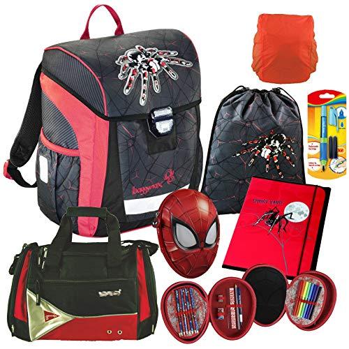 Spider - Spinne - Baggymax TRIKKY Leicht-Schulranzen Set 7tlg. Hama mit SCHULSPORTTASCHE, Gewicht: NUR 650g