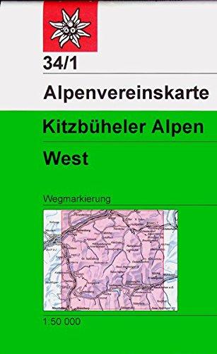 Kitzbüheler Alpen, West: Wegmarkierung (Alpenvereinskarten)
