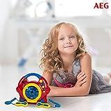 Kinder Spiel Zimmer Karaoke Anlage Sing a long CD Player + 2 Mikrofone AEG CDK 4229 bunt - 4