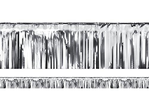 P&D Fransengirlande Silber 4 Meter Lamettagirlande