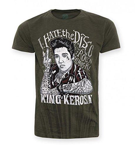 King Kerosin T-Shirt I hate the Disko Dark Navy