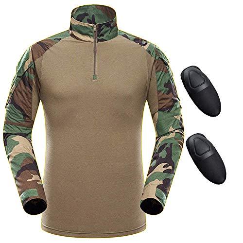 Qmfive camicia tattica, camicia militare uomo airsoft shirt maglia manica lunga combattimento bdu camouflage camo combat per airsoft paintball