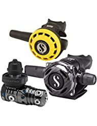 Scubapro scubapro MK25A700carbono negro Tech EVO Automatic regulador pulmón, A700 CARBON BLACK TECH, - DIN / mit Octopus
