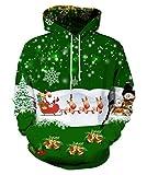 Die besten Weihnachten Jumpers - EOWJEED Unisex Realistische 3d Digital Pullover Sweatshirt Weihnachten Bewertungen