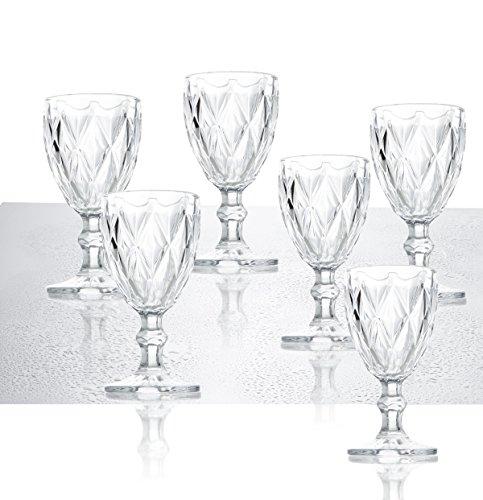 Brandani 54110, Weinkelch 6-er Set, Glas, transparent