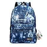 Backpack Bags , GIM Fashion Galaxy Sky Printing Schoolbags College Shoulder Back Pack / School Book Backpack Fits Boys and Girls Teen. (Blue)
