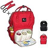 Mochila de pañales Premium BABYDAY XL | Bolso grande para bebé incl. 2 ganchos| Varios colores|...